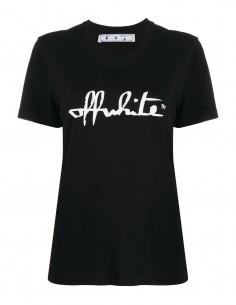 Black tee shirt white script OFF WHITE