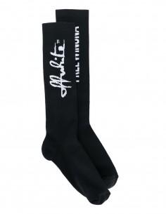 """Black socks """"script"""" logo white OFF-WHITE*"""