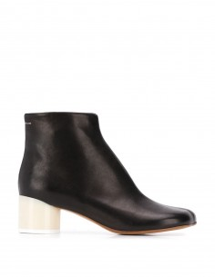 Black leather boots with plastic heel MAISON MARGIELA