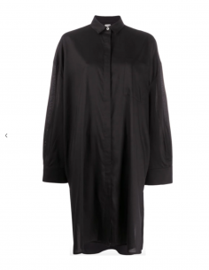 TOTEME black oversized midi shirt-dress winter 2020