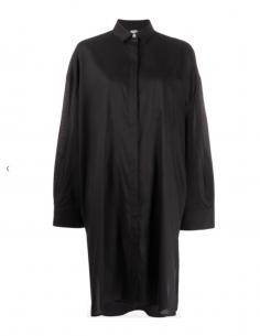 TOTEME black oversized midi shirt-dress winter 2020