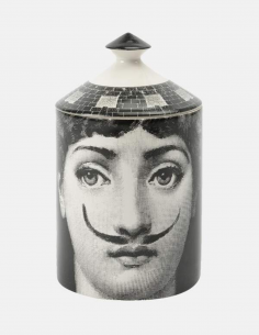 "FORNASETTI black and white perfumed candle ""MOUSTACHE"" 300g"