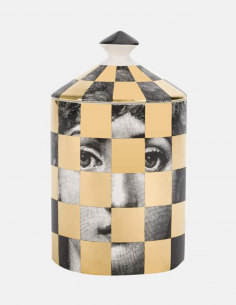 "FORNASETTI black and white perfumed candle ""SCACCO"" 300g"