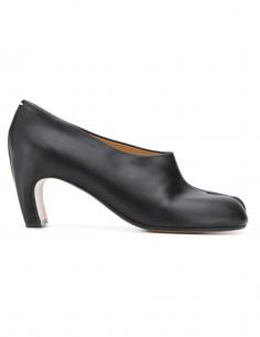 Black leather Tabi heels MAISON MARGIELA