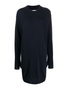 MAISON MARGIELA blue short pullover dress with mitten finishing