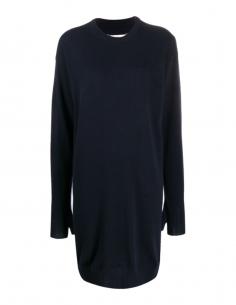 Robe pull courte  bleue MAISON MARGIELA avec finition mitaine