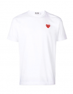 CDG COMME DES GARCONS PLAY - white tee shirt with red heart logo