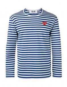 COMME DES GARCONS PLAY - Marinière bleue marine à coeur rouge