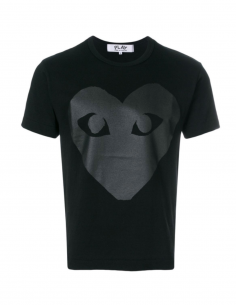 COMME DES GARCONS PLAY black shirt with big black heart, unisex.