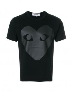 T-shirt noir COMME DES GARCONS PLAY avec grand coeur noir unisexe