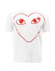 CDG PLAY White tee with big red heart printed