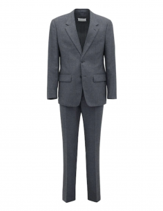 MAISON MARGIELA grey two-piece suit with reverse stiching in virgin wool