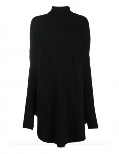 MM6 black oversized turtleneck pullover