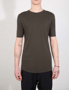 THOM KROM Khaki tee with clean edges