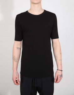 THOM KROM Black tee with clean edges