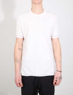T-shirt blanc à couture contrastée dans le dos THOM KROM