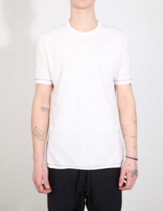 THOM KROM White tee with contrasting topstitching