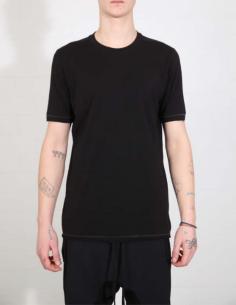 T-shirt noir à couture contrastée dans le dos THOM KROM