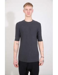 T-shirt gris à bords côtelés THOM KROM