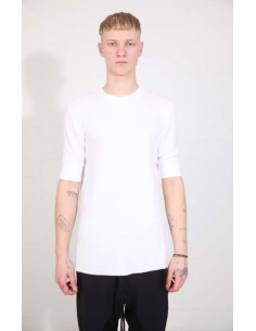 THOM KROM White tee with ribbed edges