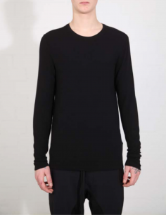 THOM KROM Black tee with long sleeves