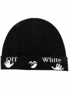 "OFF-WHITE Black ""New Logo"" beanie unisex"