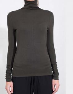 THOM KROM Khaki turtleneck pullover