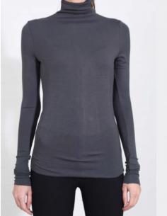 THOM KROM Grey turtleneck pullover