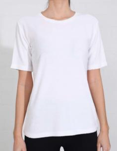 T-shirt blanc éponge à bords usés THOM KROM