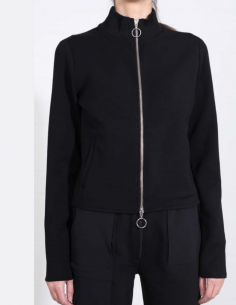THOM KROM Black long-sleeved zipped sweater