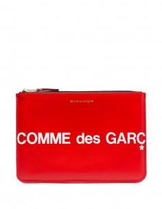 Pochette zippée avec logo - Rouge Comme des Garçons Mixte FW20