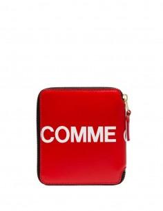 Porte-feuille zippé avec logo - Rouge Comme Des Garçons Mixte FW20