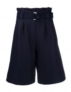 GANNI blue wool shorts