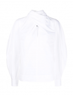 "GANNI white blouse with ""lavallière"" bow"