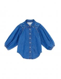 GANNI Blue denim shirt