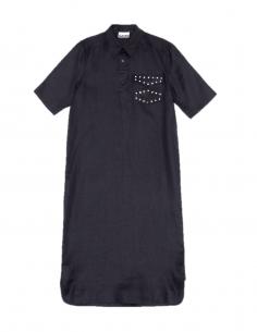 """Robe noire maxi à poche """"Western"""" GANNI"""
