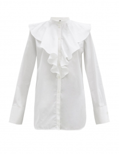 TOTEME White breastplate shirt with ruffles for women