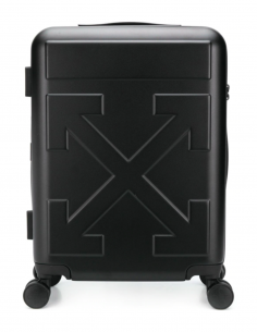 "OFF-WHITE ""Trolley Arrow"" black suitcase"