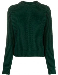 MAISON MARGIELA green ribbed pullover with crew neck for women