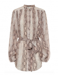 ZIMMERMANN Snake-printed blouse with mao collar