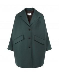 Manteau vert oversize MM6 pour femme, automne/hiver 2020