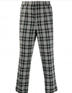 Pantalon à pinces noir AMI PARIS pour homme, automne/hiver 2020