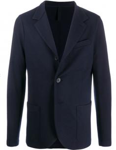 Blazer bleu en laine vierge HARRIS WHARF LONDON pour homme, automne/hiver 2020