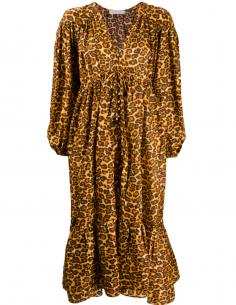 Robe à imprimé léopard et manches bouffantes ZIMMERMANN