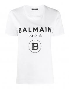 T-shirt blanc BALMAIN en coton de la collection Automne Hiver 2020.