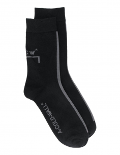 A-COLD-WALL black socks with logo for men, fall/winter 2020