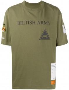 "T-shirt kaki ""British Army"" avec écusson HERON PRESTON"