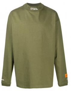 """T-shirt manches longues kaki """"CTNMB"""" HERON PRESTON pour homme, automne/hiver 2020"""
