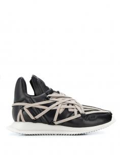 """Sneakers """"Maximal runner"""" en cuir de Rick Owens DRKSHDW de la collection Printemps Eté 2020."""