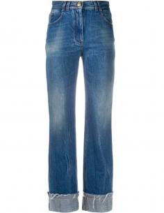 Jean bleu vintage BALMAIN PARIS pour femme, automne/hiver 2020